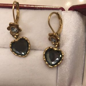 Betsey Johnson Jewelry - Betsey Johnson heart dangle Earrings